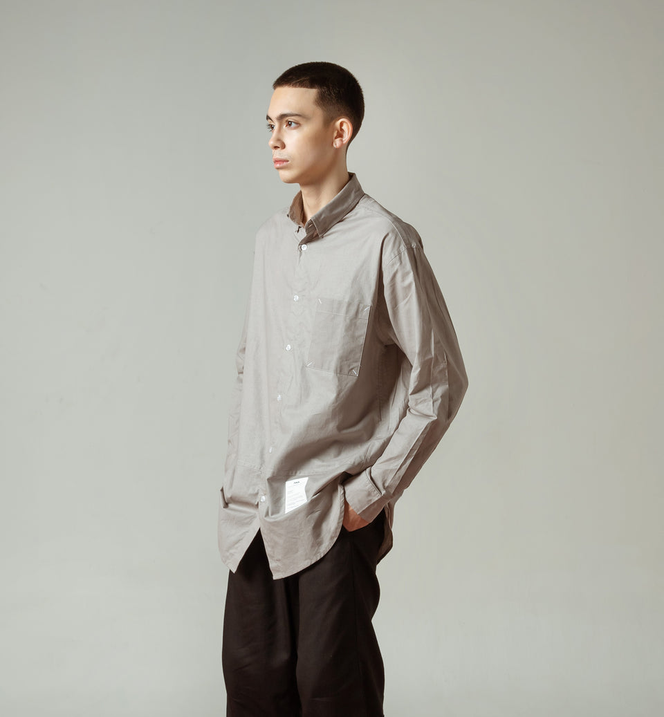 TERA ASH GREY OVERSIZED SHIRT