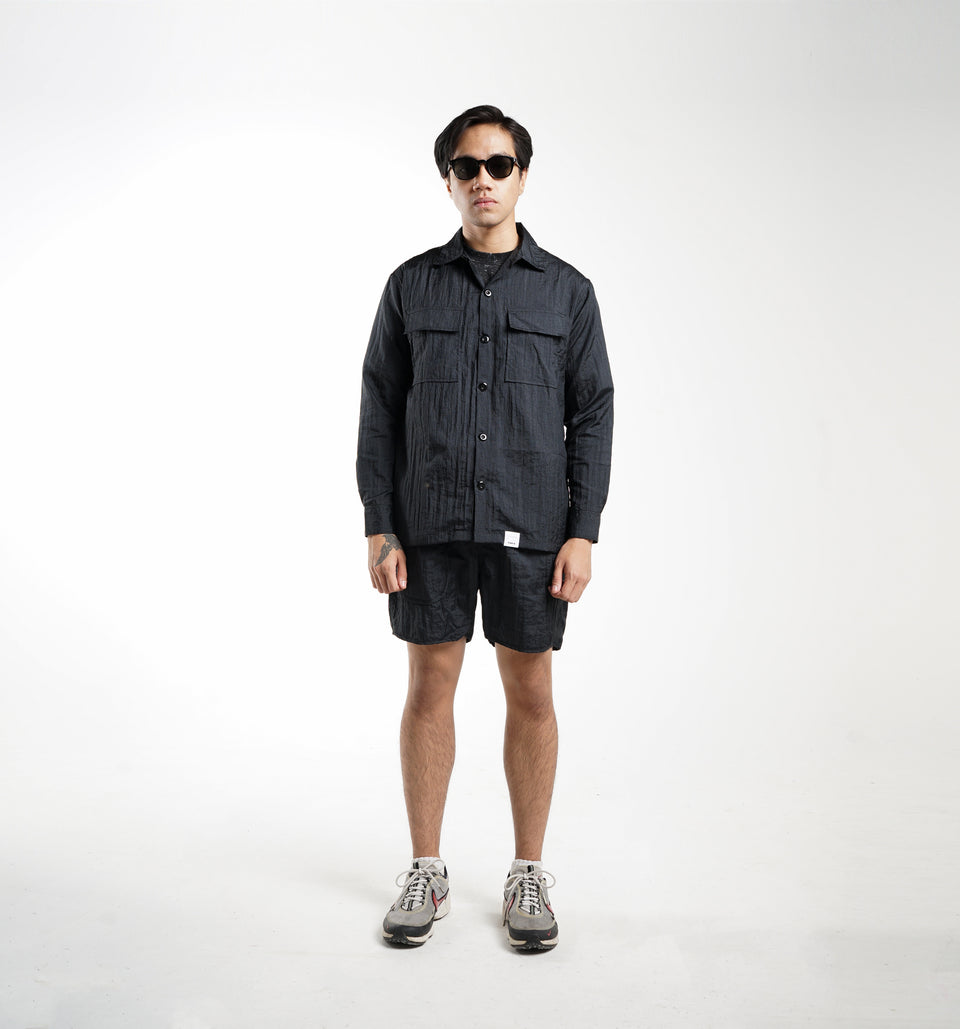 POINT NYLON SHIRTS BLACK