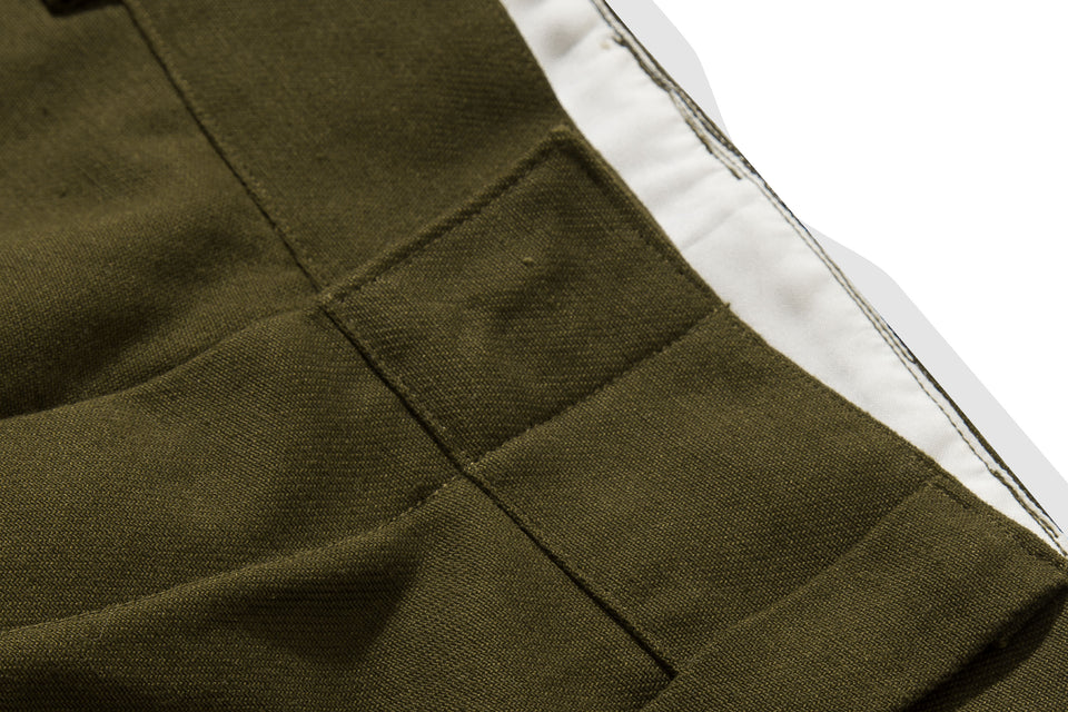 HELVE COTTON PANTS OLIVE