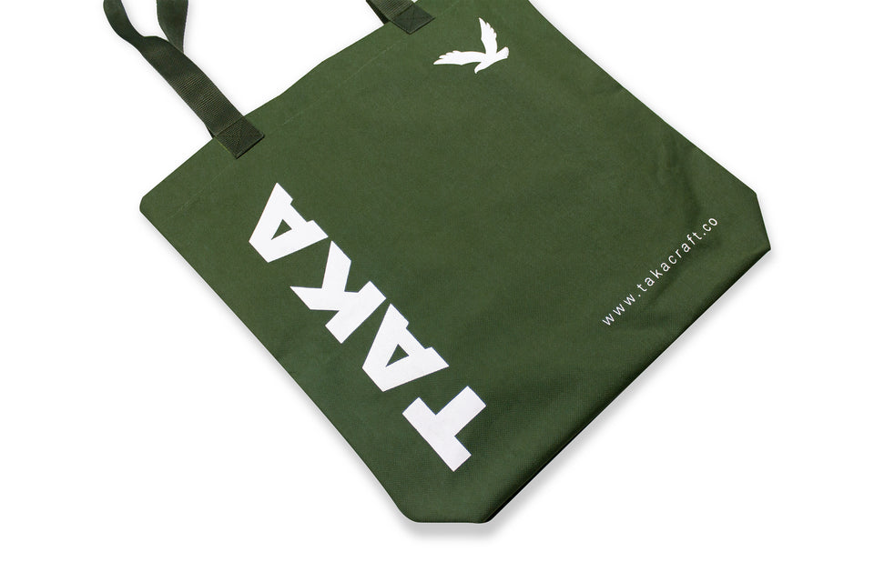 REUSABLE TOTE BAG OLIVE