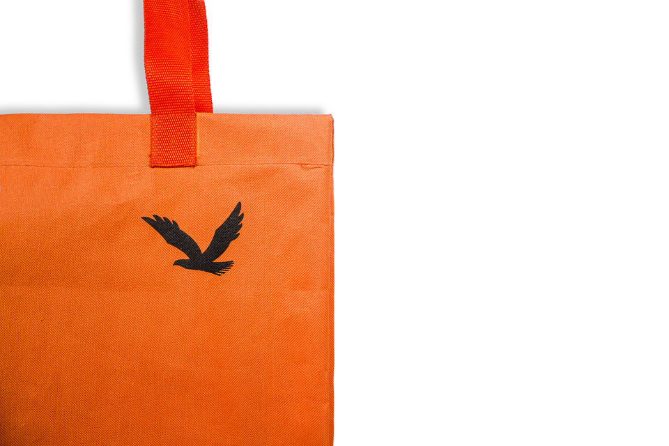 REUSABLE TOTE BAG ORANGE