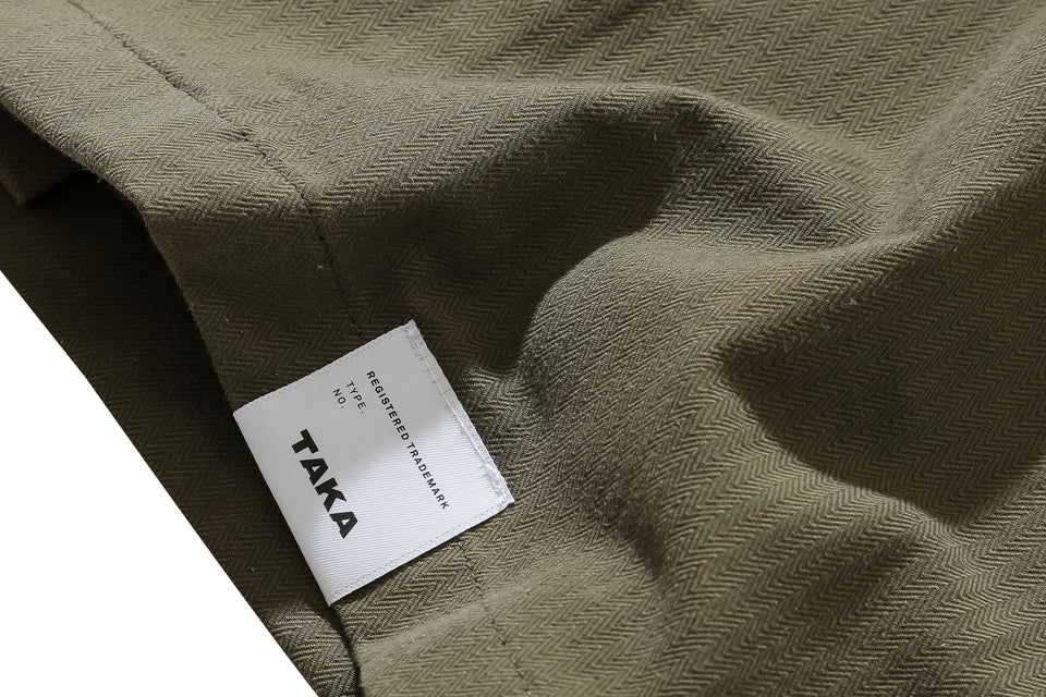 POINT SHIRT JACKET OLIVE