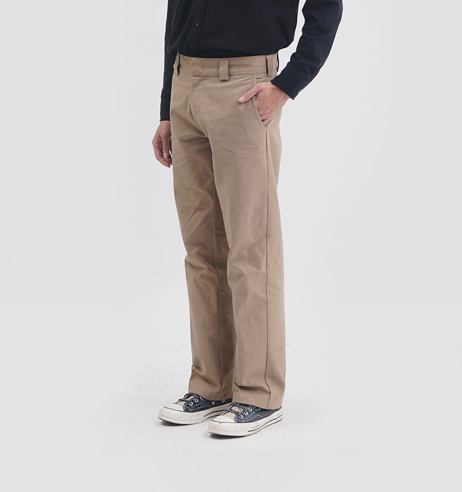 HELVE COTTON PANTS KHAKI