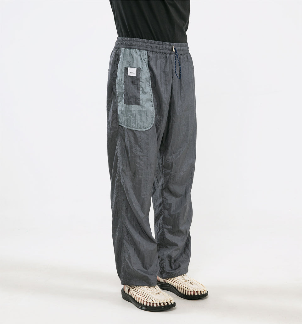 BUGGY NYLON PANTS GREY