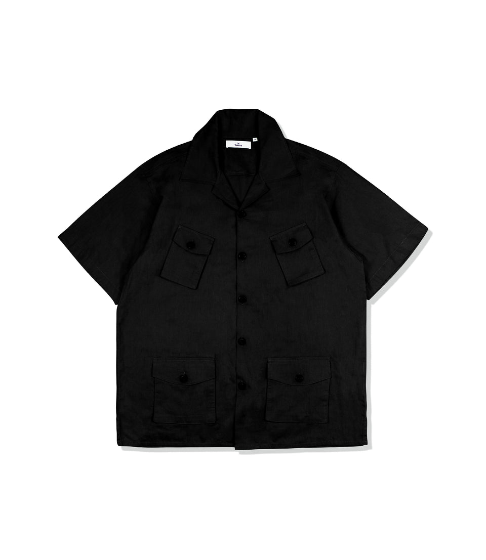 CAMP FOUR-POCKET SHIRTS BLACK