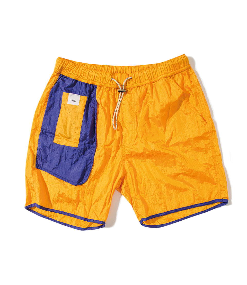 BUGGY NYLON SHORTS PURPLE AND GOLD