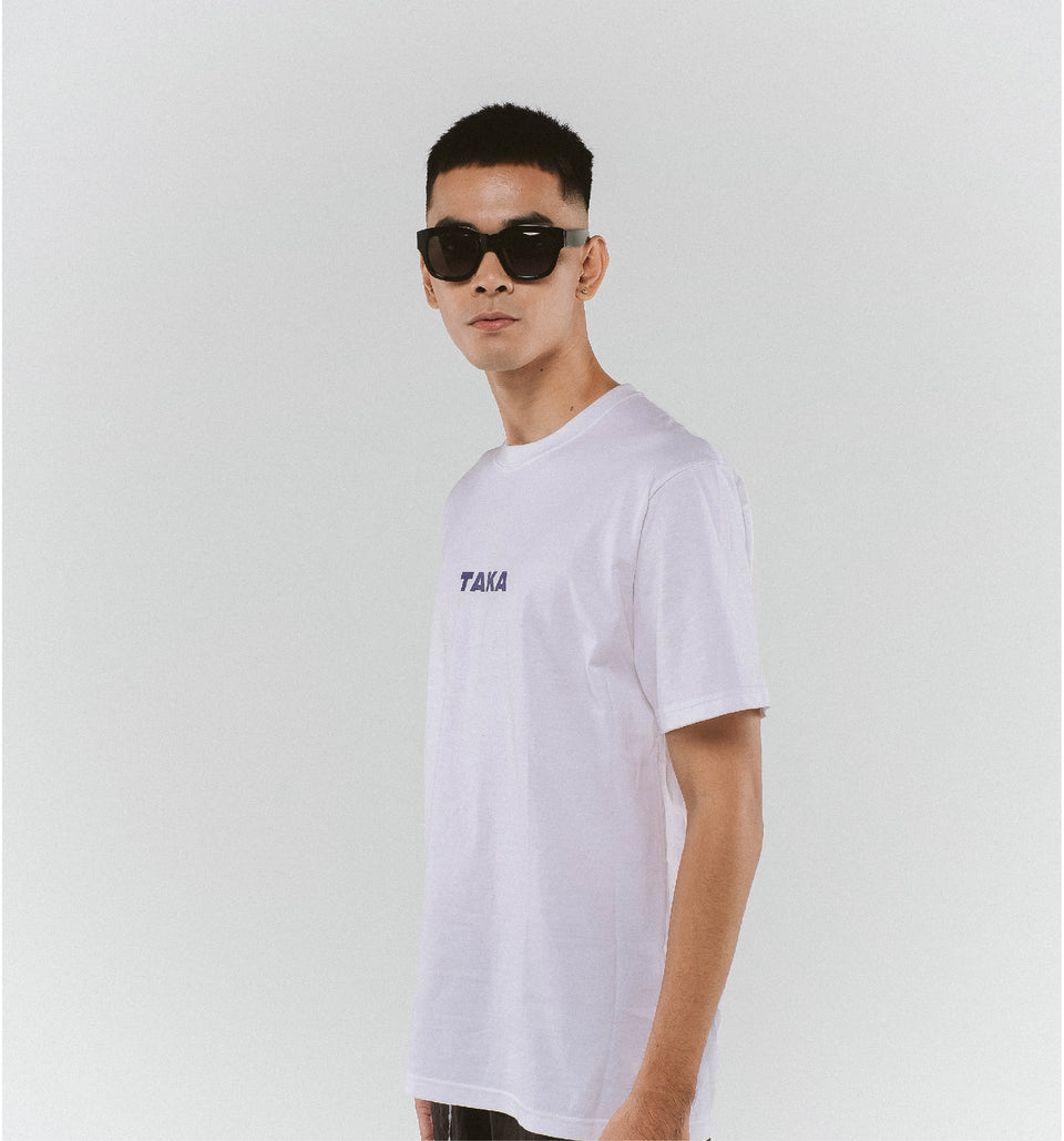 HEAVY COTTON LOGO TEE WHITE