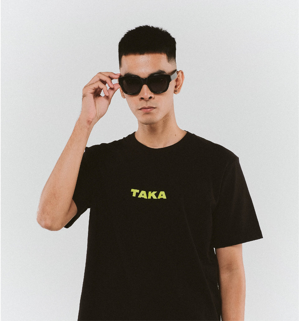 HEAVY COTTON LOGO TEE BLACK