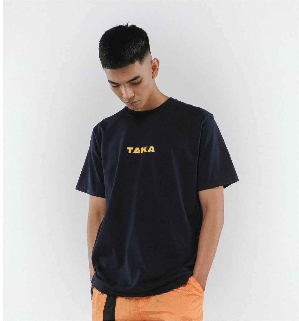 HEAVY COTTON LOGO TEE NAVY
