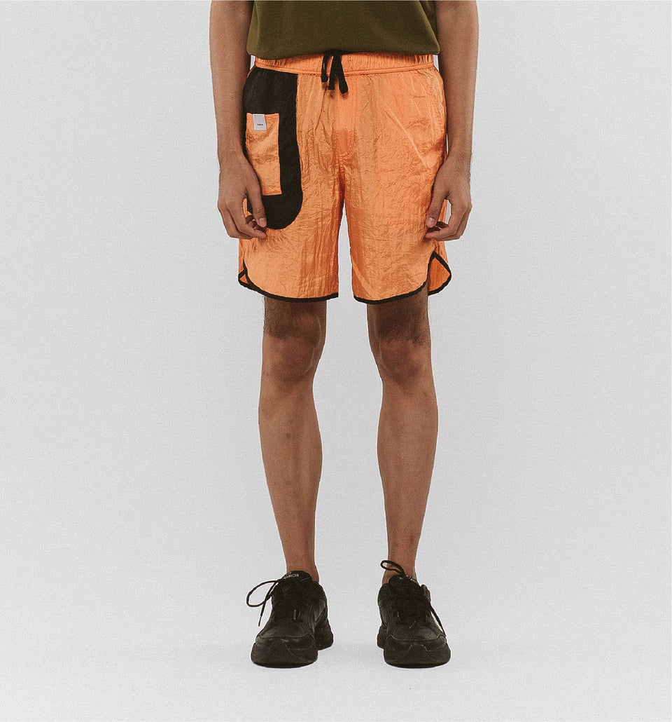 BUGGY NYLON SHORTS ORANGE