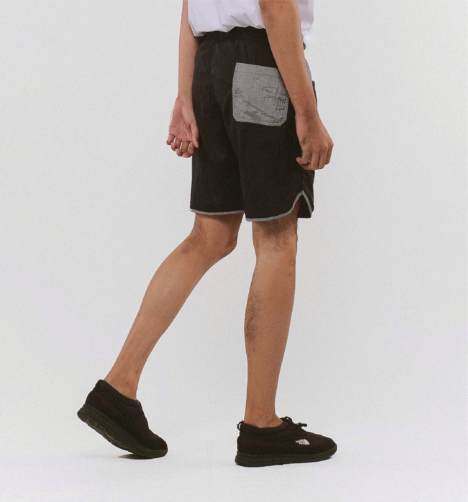 BUGGY NYLON SHORTS BLACK