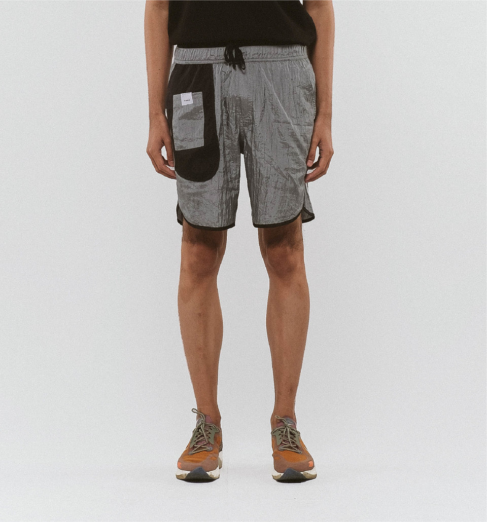 BUGGY NYLON SHORTS GREY