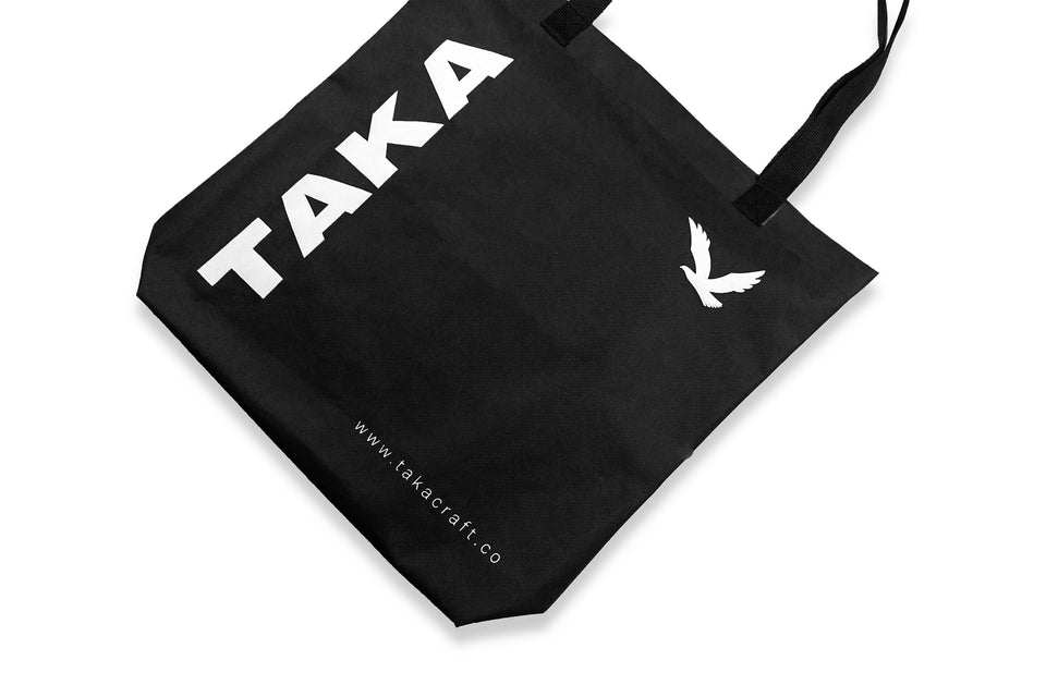 REUSABLE TOTE BAG BLACK