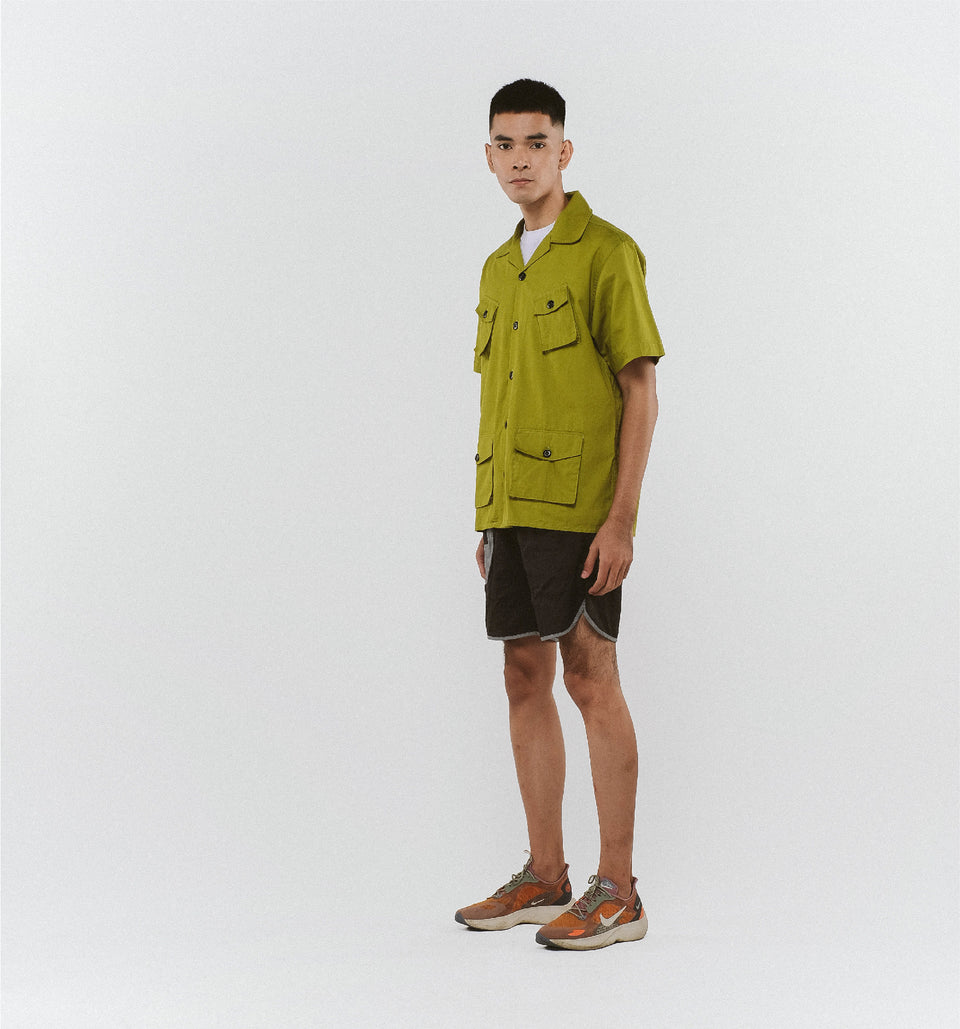 CAMP FOUR-POCKET SHIRTS MOSS GREEN