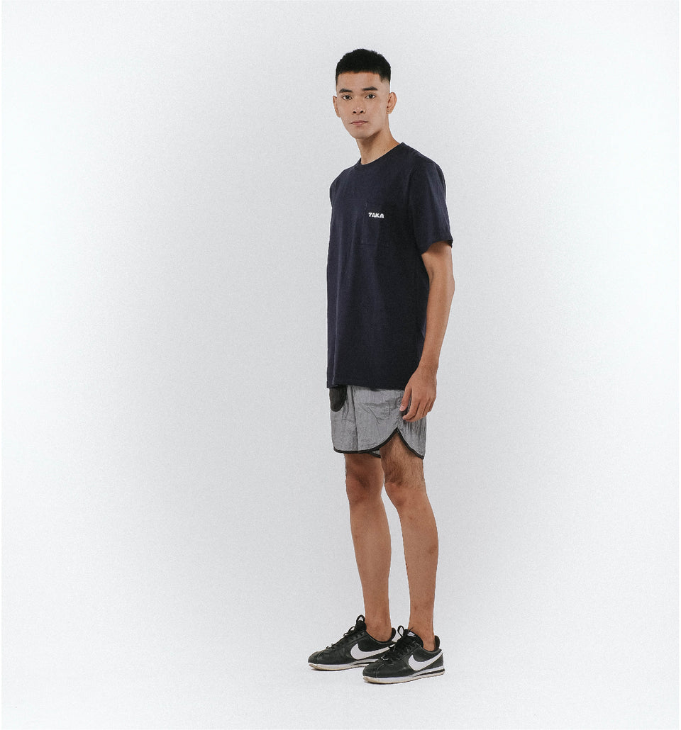 HEAVY COTTON POCKET TEE NAVY