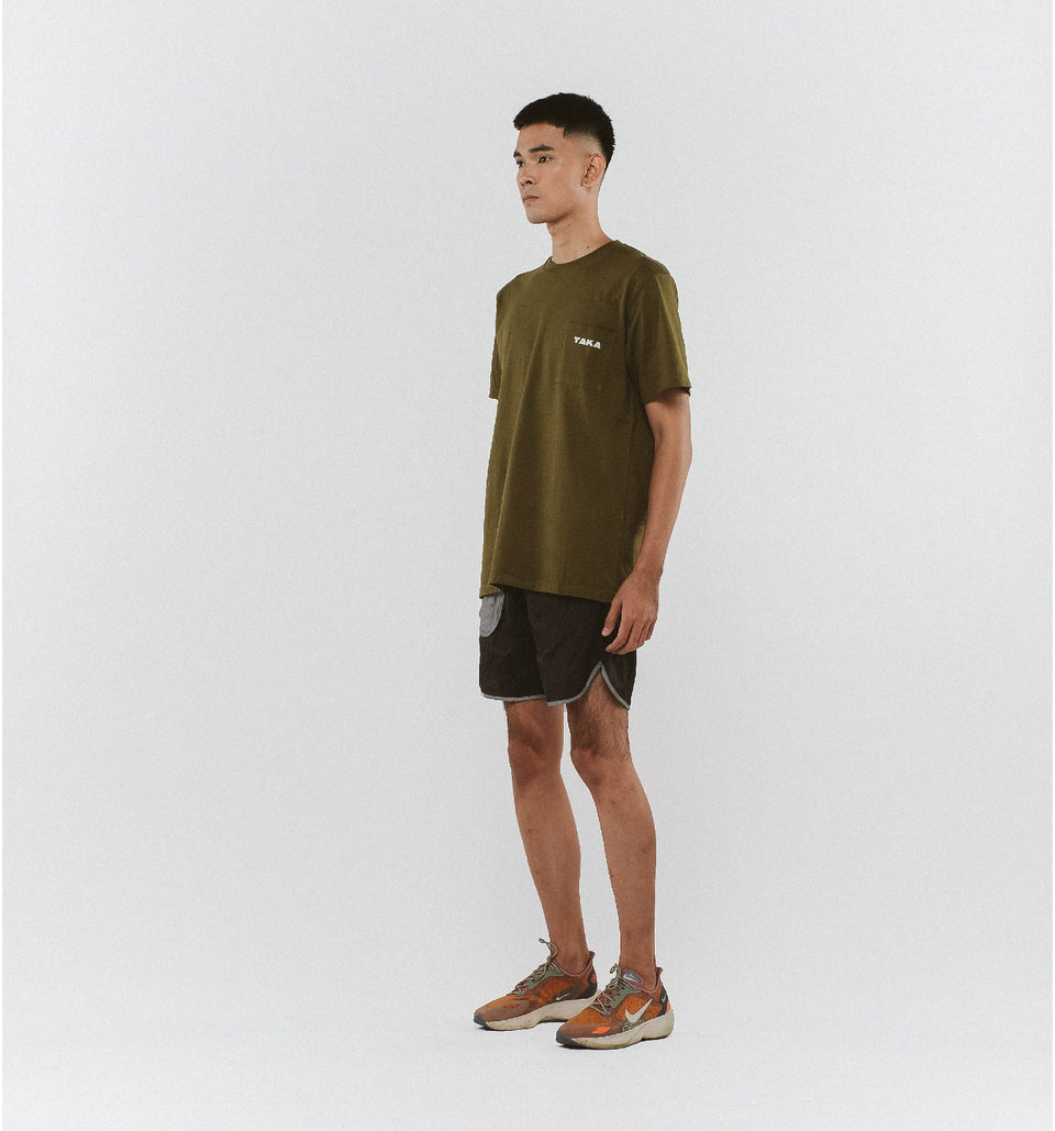 HEAVY COTTON POCKET TEE OLIVE