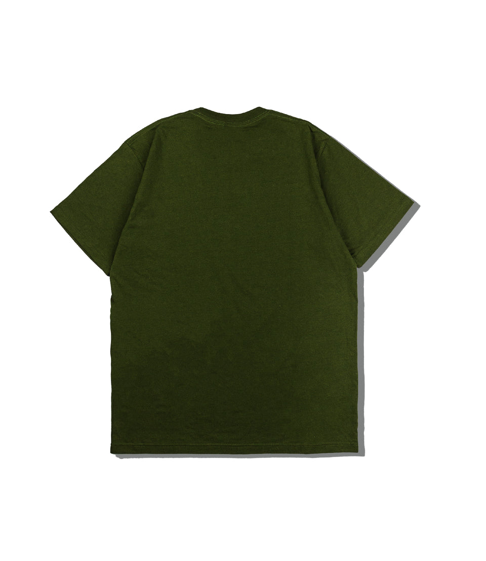 HEAVY COTTON LOGO TEE OLIVE