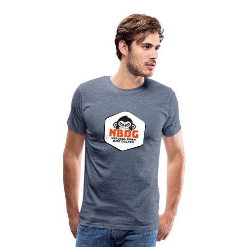 Men's Premium T-Shirt - NBDG Badge - heather blue