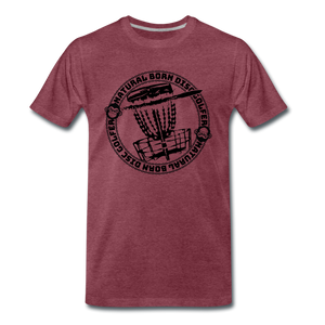 NBDG Circle 3.0 - Men's Premium T-Shirt - heather burgundy