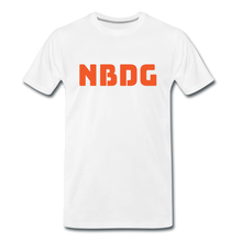 Load image into Gallery viewer, NBDG Bar Logo - Men's Premium T-Shirt - white