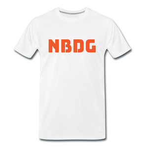 NBDG Bar Logo - Men's Premium T-Shirt - white