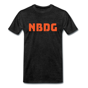 NBDG Bar Logo - Men's Premium T-Shirt - charcoal grey
