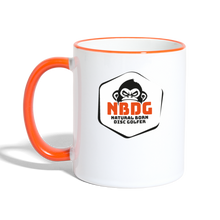 Load image into Gallery viewer, NBDG Badge - Contrasting Mug - white/orange