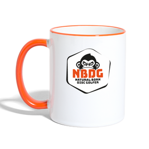 NBDG Badge - Contrasting Mug - white/orange