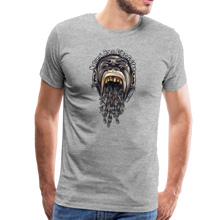 Load image into Gallery viewer, NBDG Throw-Up - Men's Premium T-Shirt - heather grey