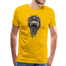 Load image into Gallery viewer, NBDG Throw-Up - Men's Premium T-Shirt - sun yellow