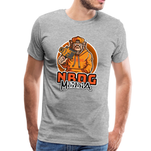 Load image into Gallery viewer, NBDG Urban Camera Monkey - Men's Premium T-Shirt - heather grey
