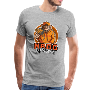NBDG Urban Camera Monkey - Men's Premium T-Shirt - heather grey