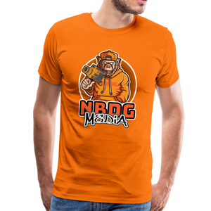 NBDG Urban Camera Monkey - Men's Premium T-Shirt - orange