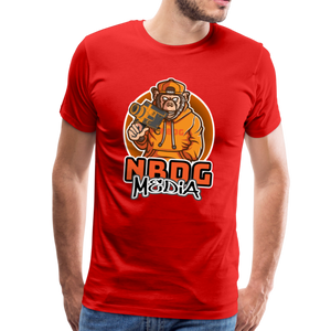 NBDG Urban Camera Monkey - Men's Premium T-Shirt - red