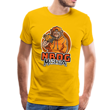 Load image into Gallery viewer, NBDG Urban Camera Monkey - Men's Premium T-Shirt - sun yellow
