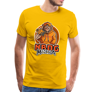NBDG Urban Camera Monkey - Men's Premium T-Shirt - sun yellow