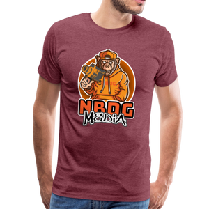 NBDG Urban Camera Monkey - Men's Premium T-Shirt - heather burgundy