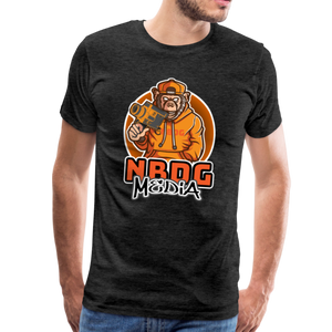 NBDG Urban Camera Monkey - Men's Premium T-Shirt - charcoal grey