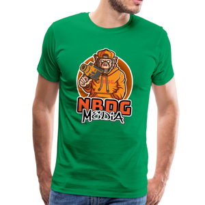 NBDG Urban Camera Monkey - Men's Premium T-Shirt - kelly green