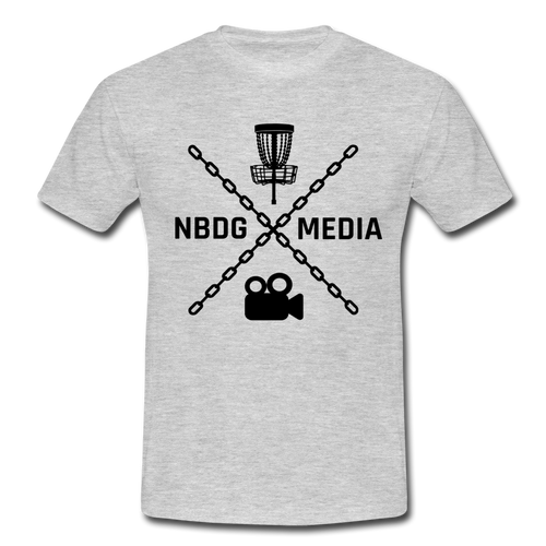 Men's T-Shirt - NBDG Media X - heather grey