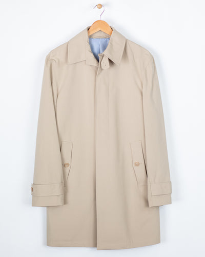 "Tan Single Breasted 36"" Rain Coat"