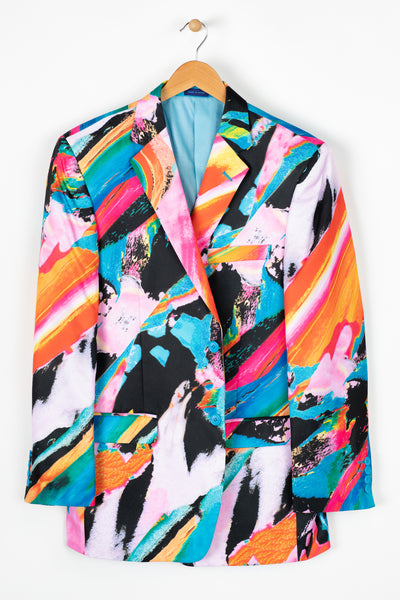 Graffiti Print Sport Coat