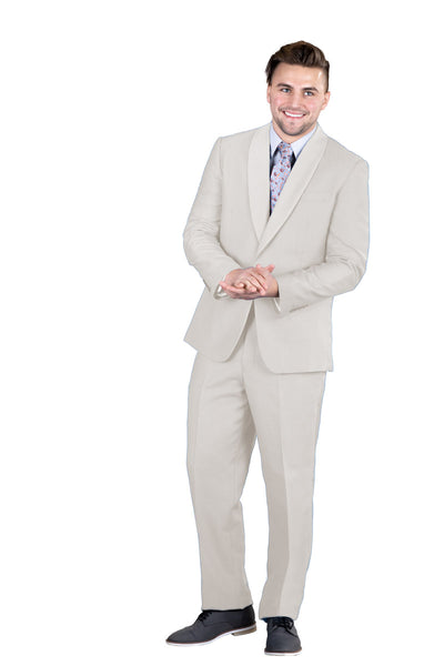3 Pc. Shawl Collar Small Check Suit-Peak Styles