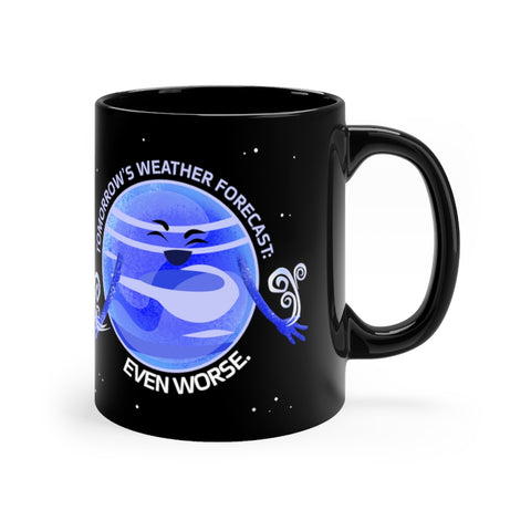 Neptune's Bad Weather Black Mug