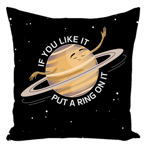 Saturn's Rings Throw Pillow