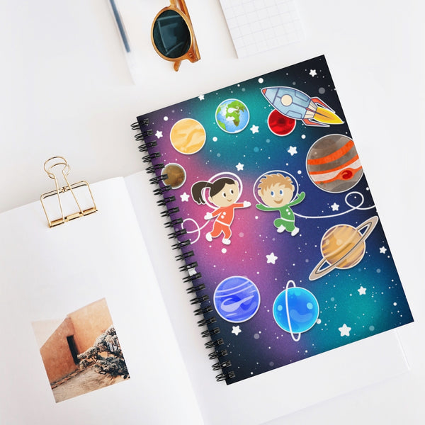 Happy Space Kids Spiral Notebook - Ruled Line