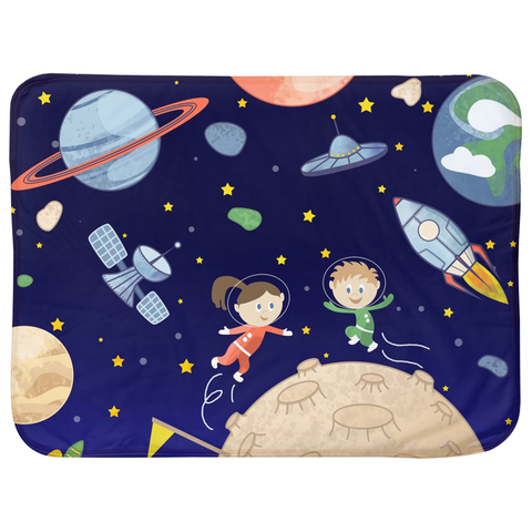 Space kids Sherpa Blankets (Infant Sizes) - Krokoneil