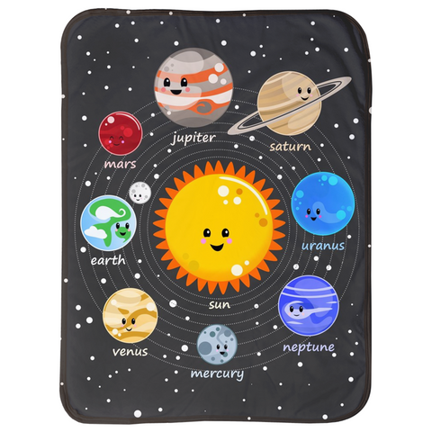 Solar System Kawaii Style Sherpa Blankets (Infant Sizes)