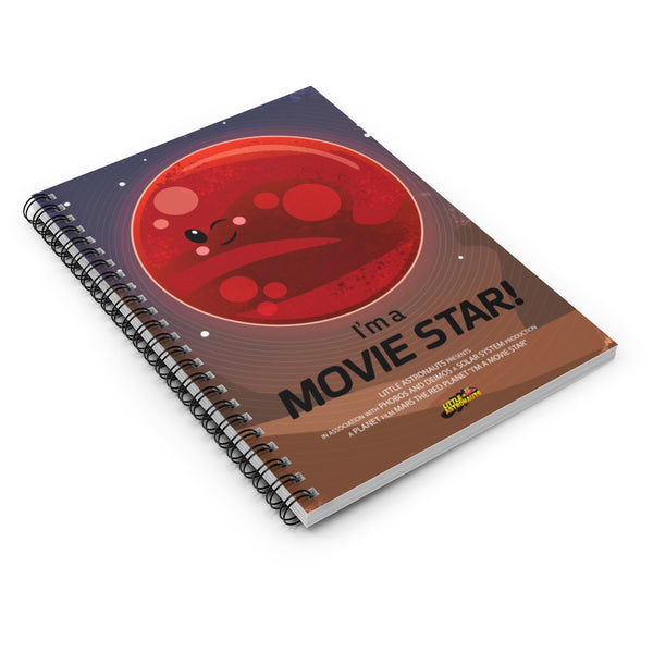 Mars Movie Star Spiral Notebook - Ruled Line