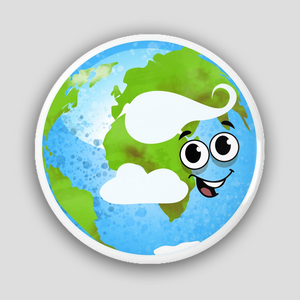 Planet Earth Pin-Back Button